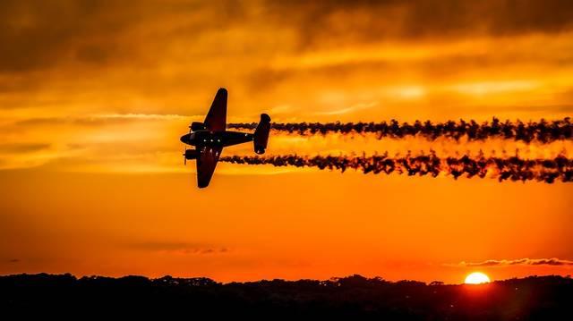 日没 飛行機 航空機 - Pixabayの無料写真 (551321)