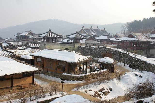 韓国の村の雪 伝統的な村 韓国 - Pixabayの無料写真 (639351)