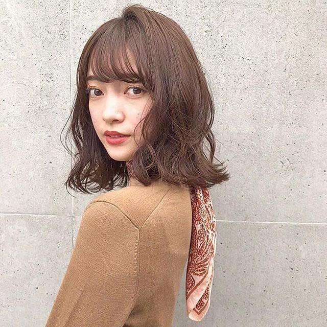 """伊藤愛子【GARDENomotesando】ミディアムヘア on Instagram: """". . . . . 切りっぱなしに飽きたら ゆるっとパーマ💓💓💓 . . . . .…"""" (44856)"""