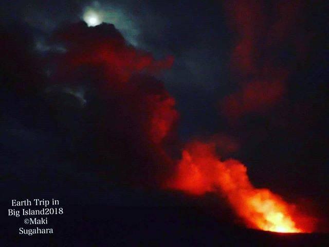 満月と溶岩