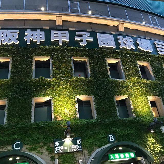 "Shinobu Kurihara on Instagram: ""夢の甲子園、34年ぶり二回目の。。。伝統校の話ではなく、自分のことです。前回は1985年の夏、高校野球の観戦でPL戦、桑田さん清原さんが3年生、立浪さんが1年生でした。なので甲子園での阪神戦は初。感慨深いです。"" (420915)"