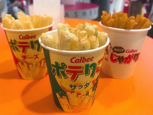 """marina*⑅୨୧ on Instagram: """"#ポテりこ _ _ _ #Calbeeplus ❣️ 何故か最近行きがち🤘💘 _ しょっぱい好きにはぴったり〜〜〜。 定番のポテりこ3種類😂🙏笑 ☜左から、チーズ・サラダ・明太チーズもんじゃ(期間限定) もんじゃ味のやつは細かった! _ 安心安定に美味しいよね🥰 _…"""" (434896)"""