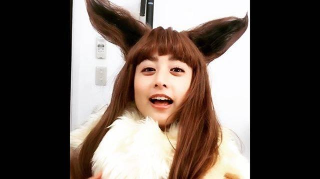 "MIZUKI YAMAMOTO on Instagram: ""耳もウィッグで出来てるよ。#ミヅキーブイ"" (561355)"