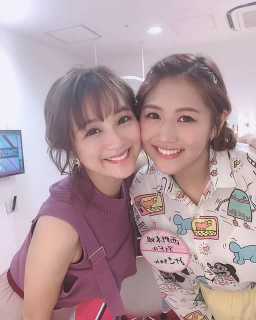 """鈴木奈々 on Instagram: """"今日は事務所の後輩、西野未姫ちゃんと一緒でした(^-^)♡♡♡またすぐ仕事で会います♡♡♡一緒に仕事できる事が、すっごく嬉しいです(^_−)−☆#西野未姫#大好きな後輩 #ありがとう❤️"""" (564177)"""
