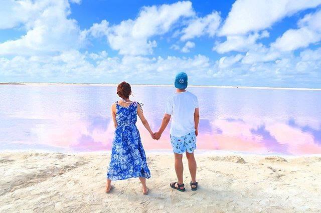 """桃 momo on Instagram: """"カンクンのピンクレイク綺麗だったよ…詳しくはブログを!!!! #ピンクレイク #ピンクラグーン #カンクン #cancun #pinklake"""" (566092)"""