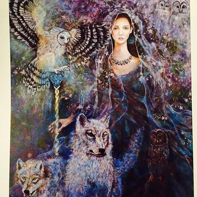 "Kudo_shizuka on Instagram: ""今日は絵を紹介します。この絵のタイトルは精霊spirit です。あらゆる生物、無生物問わずに、宿る力を表現したくて描いた作品です。"" (569032)"