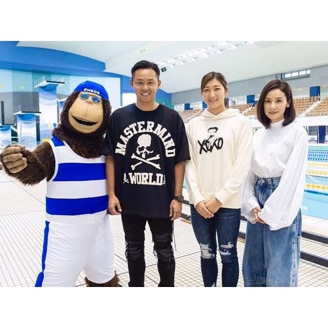 """Rikako Ikee on Instagram: """"* ご覧になられた方もいらっしゃるかと思いますが、新CM「ENEOS エネルギーソング 水泳編」が放送されています📺✨ 北島さん、吉田さん、エネゴリくんと記念撮影しました📸 よろしくお願いします😊 https://www.noe.jxtg-…"""" (590675)"""