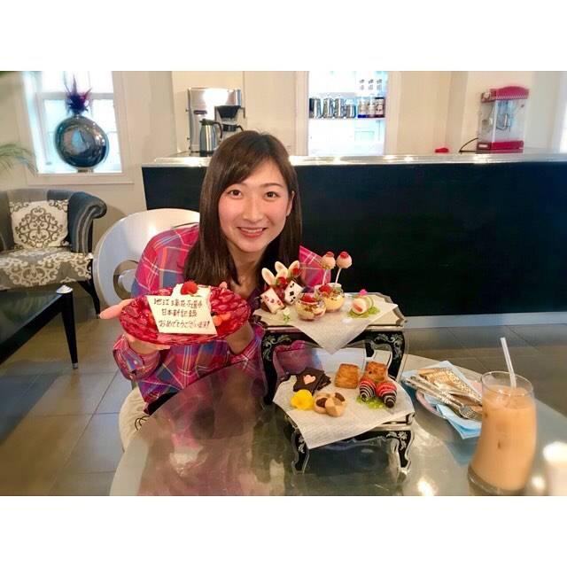 """Rikako Ikee on Instagram: """"*今日じゃないけど…お祝いして頂きました😆💕とーっても可愛くて美味しかった♥️#afternoontea コップは加工じゃなくてもともとなんです!(笑)"""" (590684)"""