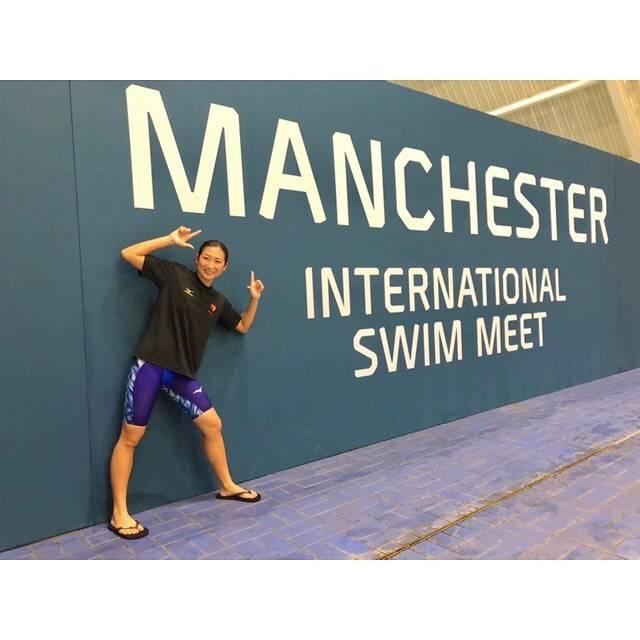 "Rikako Ikee on Instagram: ""*Thank you Manchester 😘😘100Fly 55.97🥇50Ba 27.59🥇#manchester #swimmeet #mizuno#gxsonic3"" (594221)"