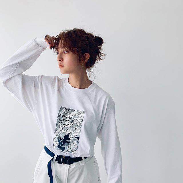 """Akane Hotta / 堀田茜 on Instagram: """"Are you talking about KLILYN?!!!🔥Tです。私服です @f_lagstuf_f  ロンT一枚で着れる季節嬉しい🌼 もう秋冬の撮影で季節感が分からなくなってるけどまだこれから夏なのよね〜 ピアスはずっとつけてる @careering.jp…"""" (597326)"""