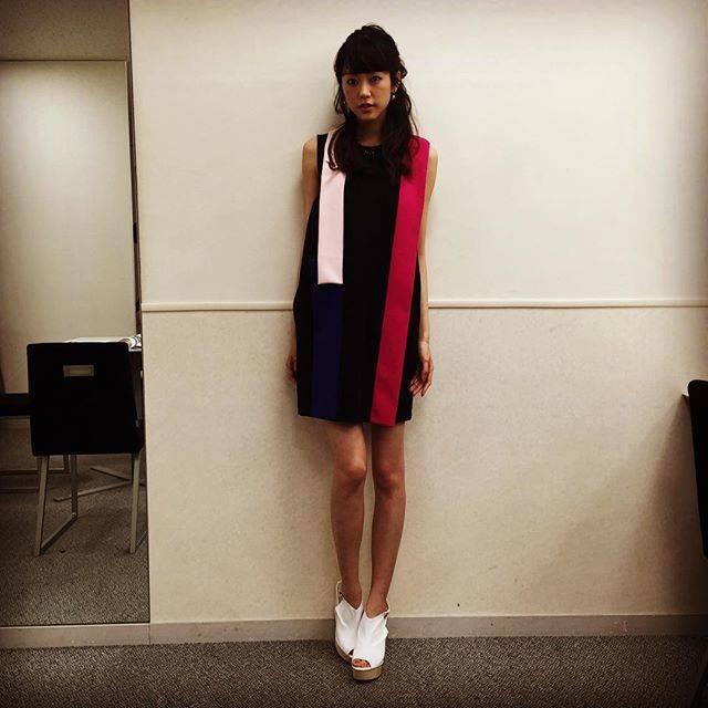 """桐谷美玲 on Instagram: """"お疲れ様スマステー!おいしかった♡今日の衣装はMSGM。おやすみなさい(^-^)/"""" (600092)"""
