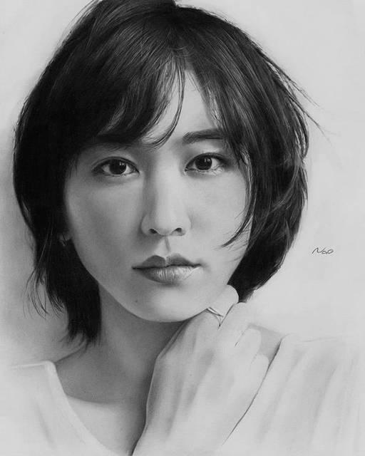 "shinichireborn on Instagram: ""Reposted from @nao_illustrator (@get_regrann) -  #新垣結衣  さん #yuiaragaki #鉛筆画 #美人画 #人物画 #精密画 #pencildrawing #pencilart #portrait…"" (607819)"