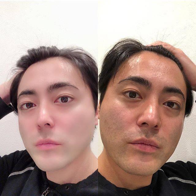 """山田孝之 on Instagram: """"世の男どもよ。これがBeauty Plusの力だ。そしてInstagramだ。強く生きろ🌗"""" (615296)"""