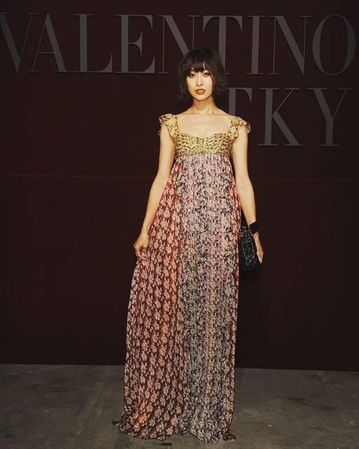 """山田優 on Instagram: """"VALENTINOのショーに招待して頂きました!Thank you soooo much♥️ it was sach a wonderful show.#valentino #valentinotky@maisonvalentino"""" (618561)"""