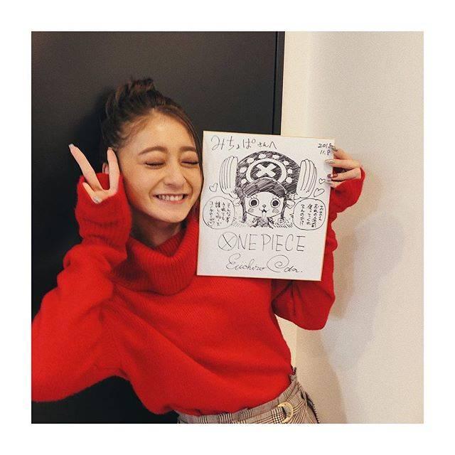 """みちょぱ(池田美優) on Instagram: """". まさかのまさかの あの、、尾田栄一郎さんから、、頂きました😭❤️❤️❤️ 小5の時に勝手にチョッパーの名前をとって みちょぱってあだ名をつけて ここまで生きてきてよかった!!!! 後ろにはハンコックスーパーかっこよかったです ってコメントも書いてくださり、、、、…"""" (632728)"""