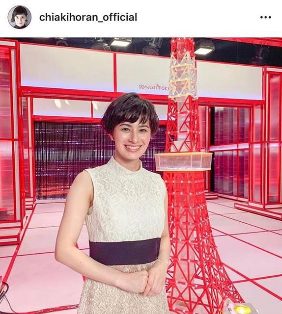 "RUVIE_press on Instagram: ""ホラン千秋 様 ご着用商品は、FRENCH / pink です✨ 📺『NHK WORLD-JAPAN presents SONGS OF TOKYO』 🛍▶︎ @ruvieofficial  プロフィール画面のURLからclick( http://ruvie.jp )…"" (634161)"