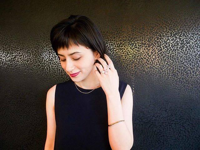 """ホラン千秋 official on Instagram: """"_雑誌『GOETHE』2月号necklace,bangle... ileana Makriring...MIMI GINZA SIX店"""" (634168)"""
