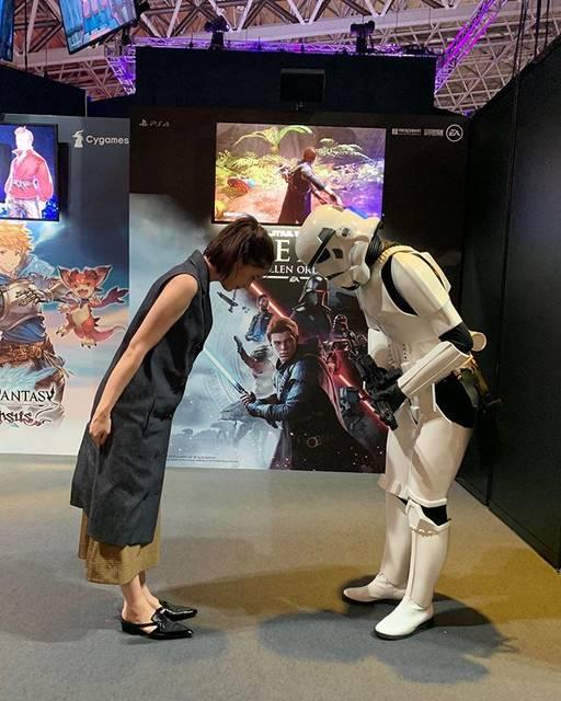 """honda tsubasa on Instagram: """"🤖おつかれさまです。あっこちらこそおつかれさまです。#tgs#東京ゲームショー2019"""" (645815)"""