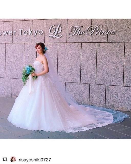 "LILY ROSE on Instagram: ""Repost from @takamibridal_costume @TopRankRepost #TopRankRepost . 吉木りさ様(@risayoshiki0727 )がお召しになっているウエディングドレスは2018年Spring&Summerコレクションの新作…"" (669120)"
