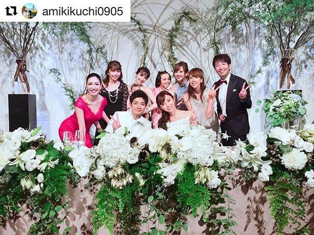 """misono on Instagram: """"結婚してからのアミミにも、やっと会えたので嬉しかった〜っ 自分の大切な人達と同じテーブルで、大好きな人達のお祝いを一緒に出来て 『挙式→披露宴→二次会→家』丸1日、最高でした!アミミも含め皆、幸せそうで♪ @deathnosuke…"""" (669160)"""