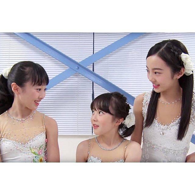 """Milky on Instagram: """"フィギュアスケート女子の本田望結(13)と本田紗来(11)姉妹が、オリンピック出場への思いを語った。 ❀ ❀…"""" (679352)"""