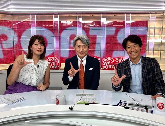"水内猛 on Instagram: ""TOKYO MX「TOKYO LOVE SPORTS」本日の生放送😊#tokyomx #tokyolovesports #登坂淳一 #今日誕生日 #稲村亜美"" (679689)"