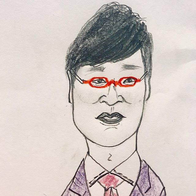 日下訓志さんはInstagramを利用しています:「山里亮太さん南海キャンディーズ蒼井優ちゃんの夫(泣)#似顔絵 #イラスト #illustration #山里亮太 #山ちゃん #お笑い #吉本興業 #vitaminpowersfactory #satoshikusaka」 (680961)