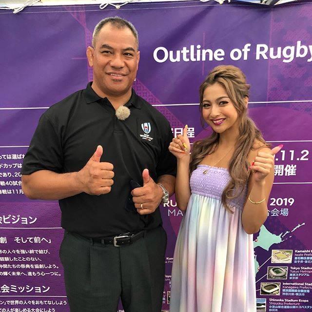 """ゆきぽよ(Yuki Kimura) on Instagram: """". . . ラグビーワールドカップ🏈. 大分でのイベントありがとうございました❤️. . . ラトゥさんとのトークイベントで. めちゃくちゃラグビーの勉強になった😆. . . ラグビーワールドカップが日本でやるって. かなり凄いことなんだなと実感!!. . .…"""" (682511)"""