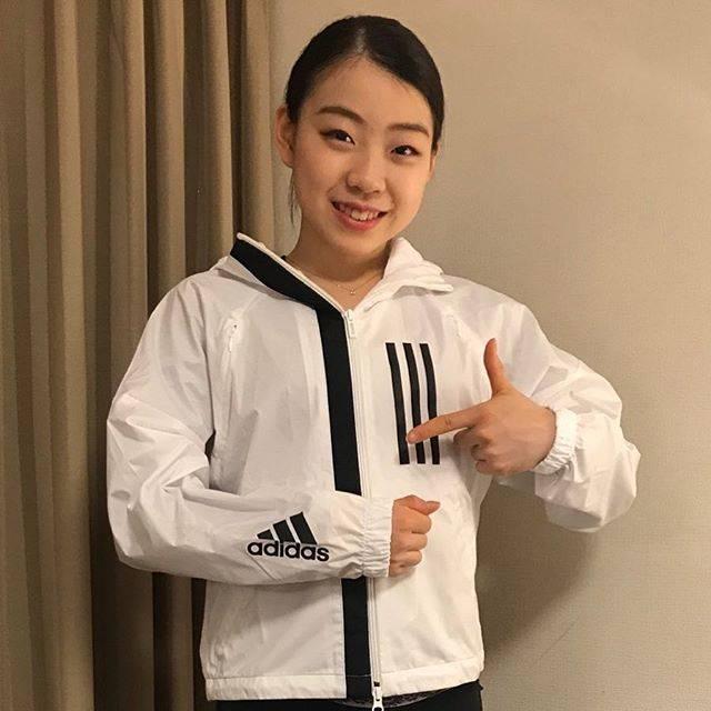 """Rika Kihira 紀平梨花 on Instagram: """"この度adidas様にサポートしていただくことになりました! adidasは前から大好きで、心強いサポートを受け、本当に嬉しく感謝しております✨ 今日は世界選手権ショートプログラムです!…"""" (693722)"""