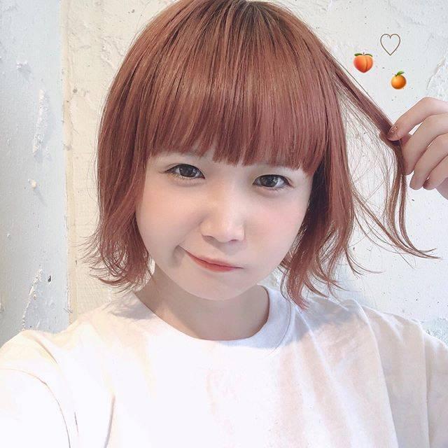 "azuki on Instagram: ""🍊🍑✂︎#ヘアカラー #pizzicato #安定の古河さん #オレンジとピンク"" (694896)"