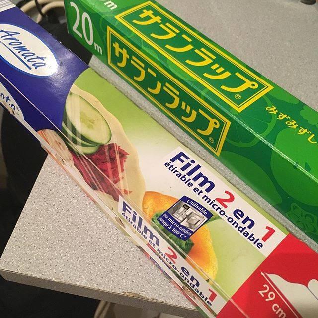 "Rika Asano on Instagram: ""・ フランスでイライラする物(^^;) ラップ!! ・ フランスのラップは 巻き付く、 切れない、 まず、次使う所が取れない😥 たまらん😣何でこうなる⁈ イライラ最高潮! ・ そんなこんなで、フランスのママへのお土産の一つには 必ずサランラップ!!! ・ ・ ・ #サランラップ…"" (742092)"