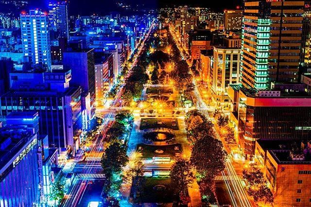 """けいしろーん on Instagram: """". さっぽろテレビ塔からのランプラインと夜景を左右で世界分けてみた😂 . あとリアレゾアートの一枚もあるので同じような写真後日貼ります🙄 . #pashadelic  #絶景delic #さっぽろテレビ塔  #日本の風景 #日本の絶景 #retrip_nippon…"""" (745888)"""