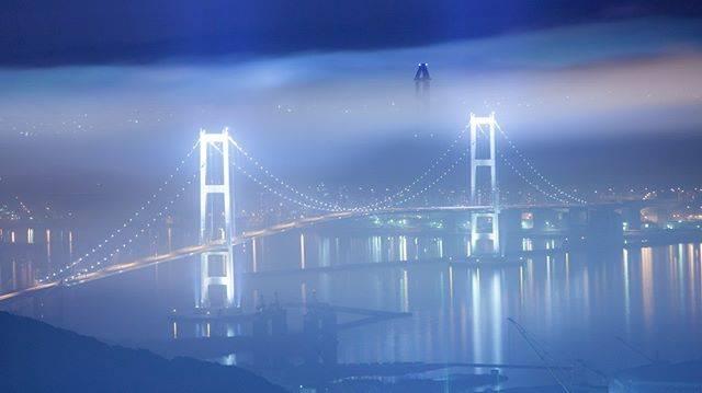 """室蘭工場夜景+α展@冬は氷筍写真家 on Instagram: """"#みんなの白鳥大橋 #東京カメラ部"""" (748613)"""