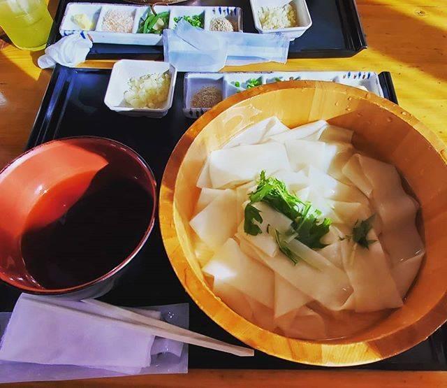 """栞凛 on Instagram: """"ひもかわうどん平たくて幅広うどんおいしかった#群馬 #ひもかわうどん #うどん"""" (749619)"""