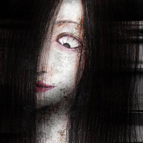 """ohana_aya on Instagram: """"🎊本当にあった怖い話20周年🎊 に出てきた幽霊。こんなイメージ。  シャーペン+色鉛筆画 +背景Photoshop  #本当にあった怖い話 #2019年秋 #20周年 #スペシャル #幽霊 #幽霊画 #イメージ画 #illustration #illust #art…"""" (750329)"""