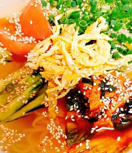 """ryu  焼肉処  弐九家 on Instagram: """"〆と言えば  #冷麺  #ネンミョン  #물냉면  お酢ドバドバ入れて食べる人見ると正直…… ひく。  スープは飲めるくらいが良いと思って作ってます  #弐九家の冷麺#マシッソヨが止まらない #ペロリ #多治見#岐阜県#冷麺好きな人と繋がりたい…"""" (763938)"""
