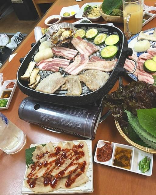 """m on Instagram: """". #韓国#韓国料理#サムギョプサル#蒸し豚#チヂミ#最高#美味しい#忘年会#京都#南#like#korean#food#good#kyoto#韓国好き#韓国好きな人と繋がりたい#ぴえん#KP#令和"""" (763939)"""