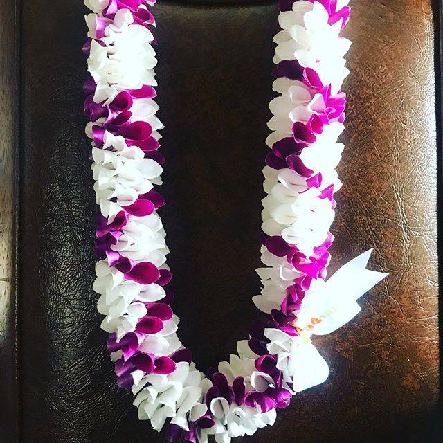 "Ehele'alohaHulaStudio on Instagram: ""ザ・オーキッド レイ カンパニーさんから素敵なLeiが届きました🎁 デンファレの紫と白でとても爽やかな色合いで綺麗に作られています💐 6月から日本で販売されるそうです。 生のレイが花束のように日本でも気軽に使われるようになるといいですね💐…"" (768678)"