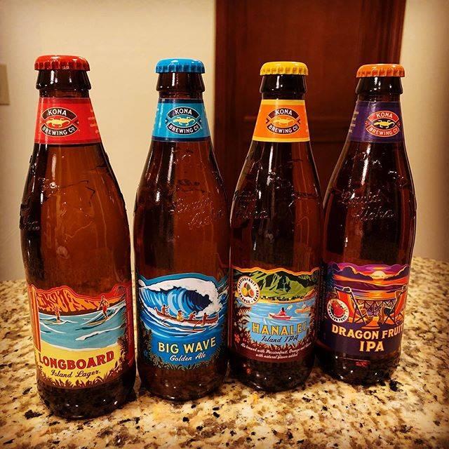 """mica on Instagram: """"今まではbig waveばかり好んで飲んでいましたが、今回4種類のmixを買ってみたらhanaleiがフルーティーですごく気に入っちゃいました😋 パッションフルーツ、グァバ、オレンジの3種類の味  #konabrewing  #ハワイビール #hawaii #hawaiiロス…"""" (768882)"""