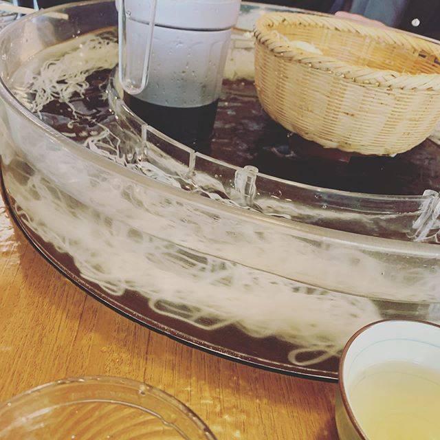 """mana on Instagram: """"そうめん流し#そうめん流し#流しそうめん#正月 #そうめん#素麺#指宿"""" (774147)"""