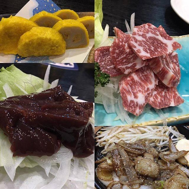 """Ayako Kogo on Instagram: """"熊本に来たら、やっぱり美味しい馬肉が食べたくなります。#馬刺し #馬レバー刺し #馬ホルモン焼き #辛子蓮根揚げたて #馬肉郷土料理けんぞう ご馳走さまでした💖"""" (774328)"""