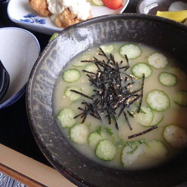 """yukino on Instagram: """"***#宮崎 で食べた#冷や汁めっちゃ出汁がきいていて美味しかった❣️#また食べたい#南風茶屋 #宮崎市#yukino食べ歩き"""" (775971)"""
