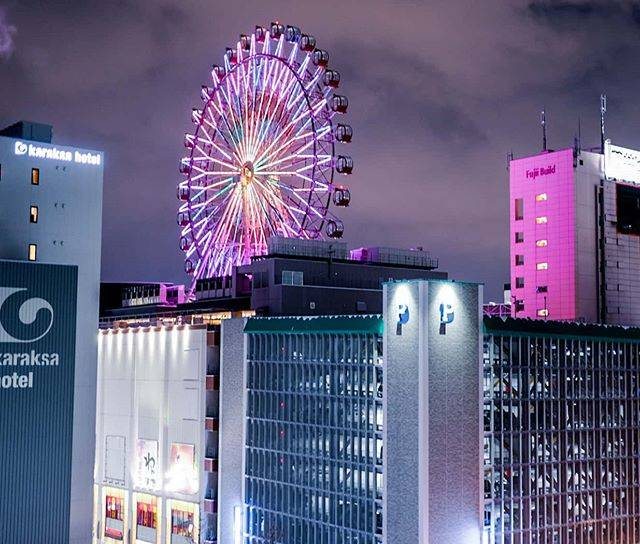 "Barun + Jennilee // on Instagram: ""Not too shabby of a view from our hotel room! Japan LOVES ferris wheels, and they can be found in the countryside, in the hearts of cities,…"" (779963)"