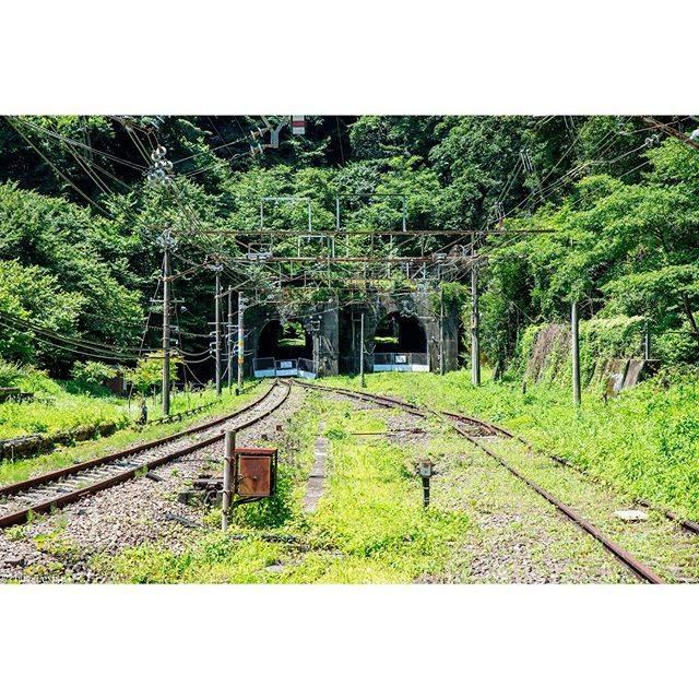 """おきた。 on Instagram: """". . . . 22年のこの日、信越本線・横軽。 横軽の要所、熊ノ平信号場、 かつては駅として栄えました。 横軽で平坦な場所はここだけ。 雑草は伸び放題、架線柱はサビにまみれ トンネルの入り口はバリケードで封鎖。 廃止からの時の流れをしみじみと感じましたが、…"""" (790390)"""