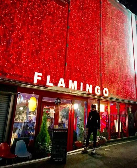 "Saikei + So🇯🇵 on Instagram: ""オシャンティ cafe FLAMINGOの前で #夜#散歩#オシャンティ#カフェ #カフェフラミンゴ#電飾#イルミネーション #ライト#赤#キラキラ#渋谷#東京 満席で入れなくて、 写真撮っただけだけどね In front of cute cafe FLAMINGO…"" (790868)"