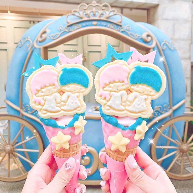 """𝓝𝓐𝓝𝓐🎀 on Instagram: """"🍦🎋💫💖   @eddys_ice_cream_ の サンリオコラボがキキララになったから 行ってきたよ😘⭐️  毎月キャラが変わるみたいで、 キキララとマイメロが楽しみで待ってた💕笑  7月は七夕だからキキララなのかな🌙 …"""" (790873)"""