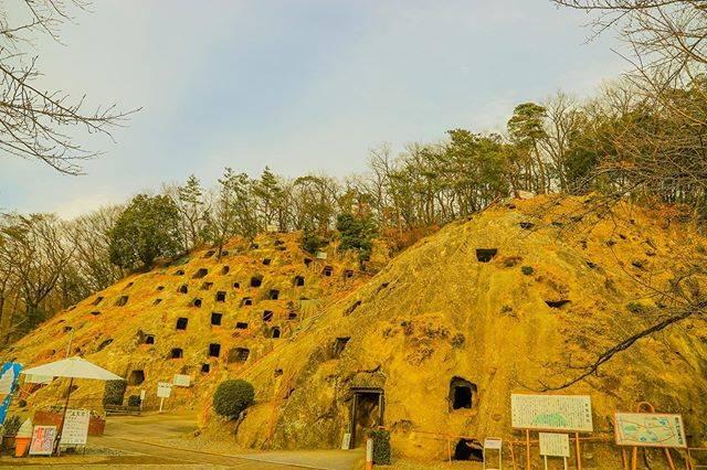 """sam1379 on Instagram: """"吉見百穴⛰ a rocky mountain with countless holes ・ ・ ・ #吉見百穴#無数の穴#貝塚#埼玉県#軍需工場跡#ヒカリゴケ#吉見町#一眼レフ初心者 #一眼レフのある生活 #カメラ好きな人と繋がりたい #カメラのある生活 #カメラ遊び…"""" (795148)"""