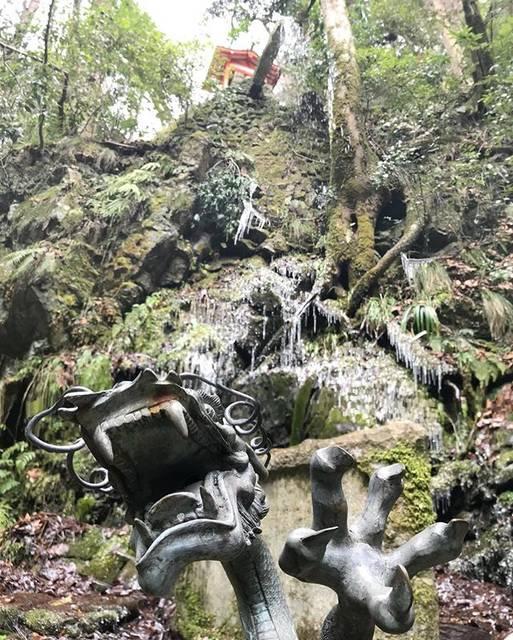 "@okayuki0625 on Instagram: ""鞍馬寺 魔王の滝 京都府京都市 Mao waterfall in Kurama temple Kyoto prefecture #日本 #京都 #滝 #鞍馬寺 #寺 #魔王の滝 #つらら #自然 #文化 #旅行 #地理 #写真 #旅游 #瀑布 #japan #kyoto…"" (806818)"