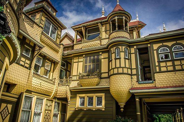 """Laurin Jeffrey on Instagram: """"The fantastic Queen Anne style of the Winchester House in San Jose. Built by Sarah Winchester, heiress to the Winchester fortune, it stands…"""" (807418)"""