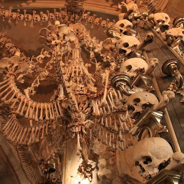 """ほりいみほ【✈︎旅×モデル✈︎】旅の女王さま ほりい on Instagram: """"【🇨🇿セドレツ納骨堂・墓地教会(納骨礼拝堂)】 教会内部は全て人骨…! . 内部のシャンデリアや十字架、紋章、聖体顕示台などの装飾も人骨を使って装飾されています… こちらは後々の1870年頃に作られたようです。 .…"""" (810392)"""